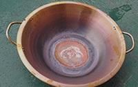 铜锅三工位复底钎焊后样品